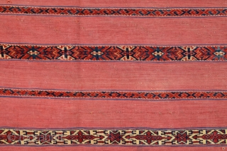 Early 19th Century Tekke Ak Cuval size 77x129 cm very fine quality and has off-set knotting