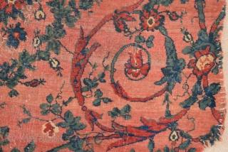 Persian Bidjar Rug Fragment circa 1800 size 89x131 cm