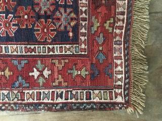 Ca.1900 Antique Bakhtiyari Sumak , size:50x47 cm 1.8x1.7 ft. Wonderful Natural colours