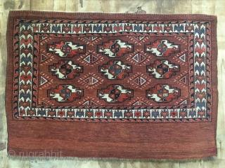 ca.1880 ANTIQUE YOMUT CHUVAL, amazing natural colours, size:81x116 cm.  2.8x3.10 ft