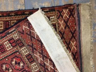 ca.1900 Antique Tekke Rug size 131x103 cm 4.4x3.5 ft