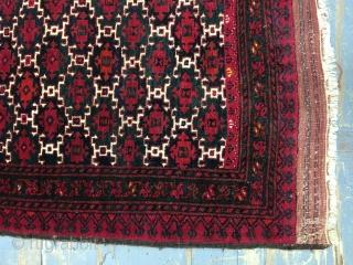 Antique Turkomen Ersari Rug size 128x98 cm 4.3x3.3 ft