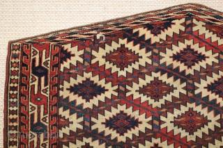 ca.1880 Turkman Yomut Asmalyk,,wonderful natural colours,size:74x120 cm  2.4x4 ft