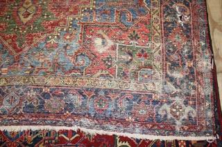 Wonderful Heriz Rug,great Natural colours,,size:360x235 cm