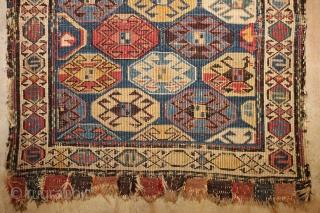 ca.1880 Wonderful Shahsavan bagface,wonderful colours excapt one faded light purpul, size:50x48 cm