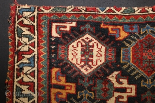 ca.1890 wonderful Khamsah bagface,,all natural colours,,size:57x70 cm 1.10x2.4 ft