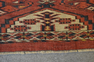 Late 19th natural dyes Ersari torba probably Kizilayak tribe 100 x 28 cm