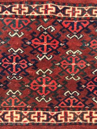 Turkoman Yomut Torba rare design mint condition & fine woven Size: 80 x 37 cm