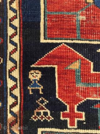 Late 19th Karagashli Shirvan Rug 220 x 138 cm