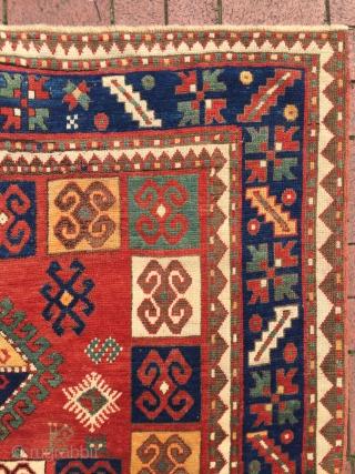 Circa 1880 Charming color Caucasian Karatcoph Rug. Good condition Size : 200 x 150 cm