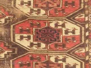 Turkoman Arabachi Chodor purple field size : 260 x 190 cm