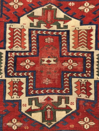 Late 19th Bergama Rug size 180 x 160 cm