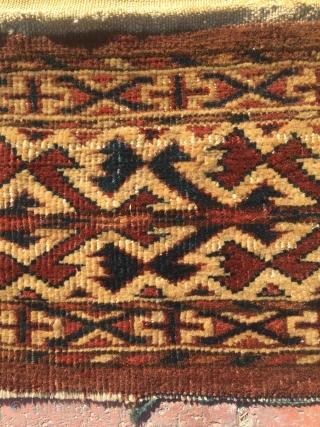 Turkoman Yomut torba size : 45 x 20 cm