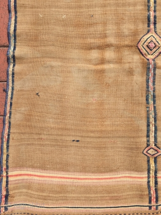 Beluch Sofra with silk detail in the middle. It has flour stain. Size : 100 x 85 cm