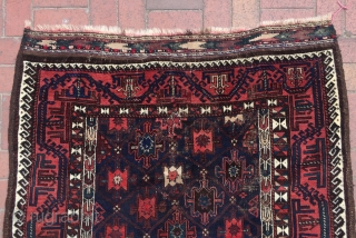 Baluch Rug with silk details 180 x 125 cm