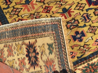 Circa 1880 mint condition Kuba Shirvan Rug. Size : 140 x 98 cm