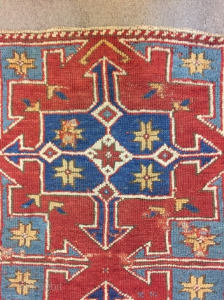 West anatolian Bergama Yastik has loss border size : 100 x 56 cm