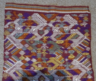 Ceremonial textile for ritual use;  Tai Daeng or Red Tai ethnic group;  Northeastern Laos;  silk and natural dyes;  discontinuous supplementary weft;  1st quarter 20th c.  Mythical animals dominate  ...