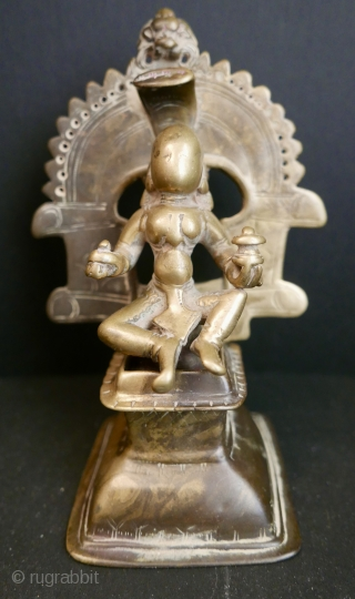 16th-17th c Hindu Shaivite Icon of the goddess 'Gauri'.  'Gauri' was a female divinity destined to be the consort to Lord Shiva,  and a rarer form of 'Parvati',  the name given  ...