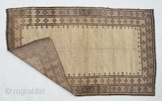Persian Tribal Gabbeh soft wool in excellent condition 1930-40s
