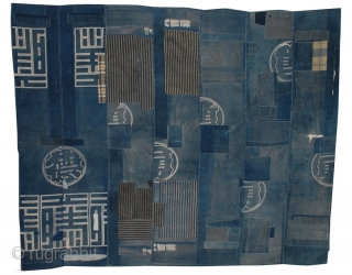 Antique Indigo Patched Boro Cloth