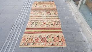 Size : 95 x 230 (cm), West anatolia (helvaci) kilim .