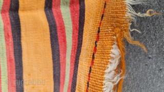 Size : 90 x 150 (cm), Central anatolia, cappadocia kilim. apricot