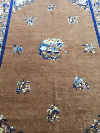 Antique Handmade Chinese Art Deco Rug,