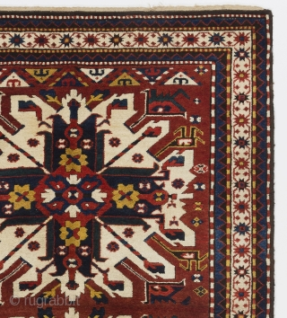 """Antique Caucasian Chelaberd (so called """"Eagle Kazak"""") Rug, Karabagh Region, 4'7"""" x 6'9"""" (140x205 cm), mint condition. All my rugs come with a 14 day peace of mind guarantee, simply return a rug  ..."""