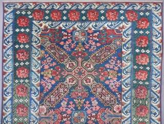 Antique Caucasian Seichur Long Rug, 10.2x4.1 ft, Excellent Condition, 19th Century.