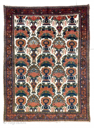 Afshar Rug, 57x75 inches (145x191 cm), very good condition, all original.