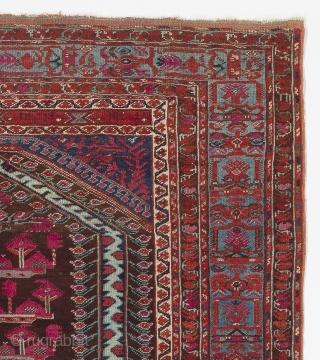 West Anatolian Kula Prayer Rug, ca 1800, 3.8 x 4.1 ft (112x125 cm)