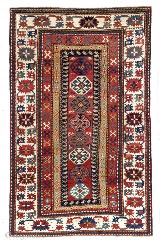"""Antique Caucasian Kazak Rug, 5'2"""" x 8'2"""" - 158x251 cm, ca 1875. no 4086"""