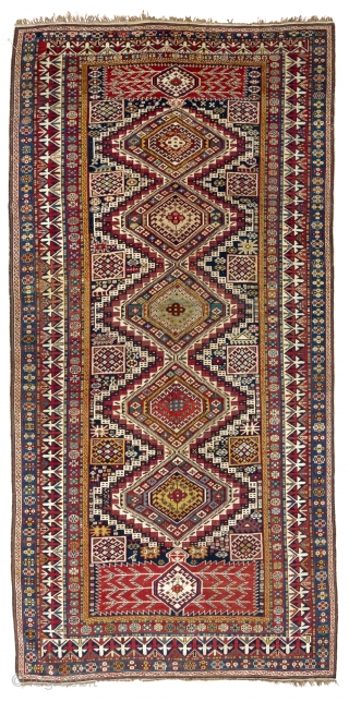 "Large Antique Caucasian Shirvan Rug in immaculate condition. 5'4"" x 11' Ft - 162x335 cm"
