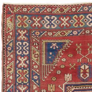 "Antique West Anatolian Bergama Rug. 5'4"" x 6'6"" - 163x198 cm"