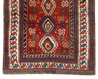 "Large Antique Caucasian Kazak Rug, ca late 19th Century, 5'6"" x 8' (167x240 cm). Available to see in person in NY"