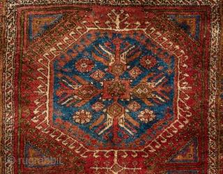 Antique Central Anatolian Yatak Rug from the village of Nuzumla (Yaylacik). 4.5 x 6.5 ft (136x195 cm).  A352