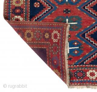 """Antique Caucasian Kazak Rug. 4'6"""" x 7' (136x210 cm), ca 1910, all original, very good  condition, full pile."""