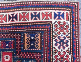 Caucasian Karachov Kazak Rug, 215x123 cm, very good condition, late 19th century.