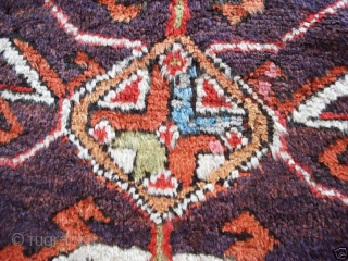 Anatolian Turkish Village Rug. Size: 54X81 inches or 137X206 cm. Good pile, great colors and some old repair. Please ask for detail photos.