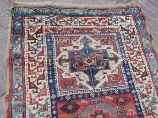 Shahsevan long rug. 10ft. 6in. x 4ft.  320 x 122 cm Good pile with the exception of the wear in the center, a simple re-pile. Wool warp, wool weft.