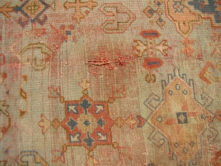 "Large antique Ushak carpet 13'X17'9"" ... 394X541 cm."