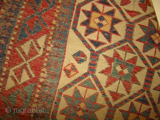 Caucasian Prayer Rug. Size: 3'x5'7""