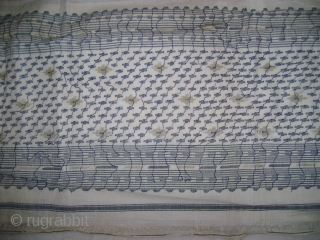 TRADITIONAL OLD DHAKAI SAREE FROM WEST BENGAL. THIS SAREE IS MADE IN MUSLIN FABRIC WHICH IS VERY SOFT. AGE IS OVER 100 YEARS , AND IN MINT CONDITION. COMPLETE SAREE. AND TEXTILES  ...