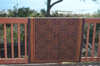 "A beautiful early Senneh Kilim, 45.5"" wide x 6'5"" long."