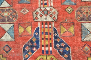 """A very nice Northwest Persian runner, late 19th century.  Nice bold colors, age-appropriate wear, low areas.  Note loss to end.  Measures 11'4"""" x 3'2"""""""