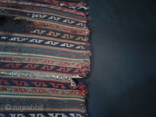 Antique Bidjar jajim from 19th century. Vegetable dyes size:140*150 cm wool/wool