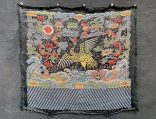 A fine and very good example of antique silk woven Imperial Chinese rank badge from Early Qing / Ching / Tsing dynasty or even as old as late Ming dynasty. Dating between  ...