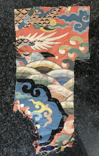 a museum grade and very rare Antique imperial 17th century Chinese Ming dynasty dragon gold and silk k'o-ssu / Kesi fragment. This is one of the rarest type of textile that you  ...