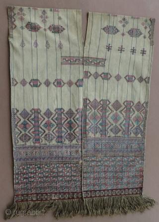 Bhutanese Tunic Kushung Kishung 19th Century Silk And